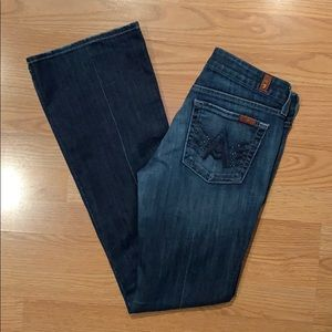 7 For All Mankind Rhinestone A Pocket Jeans